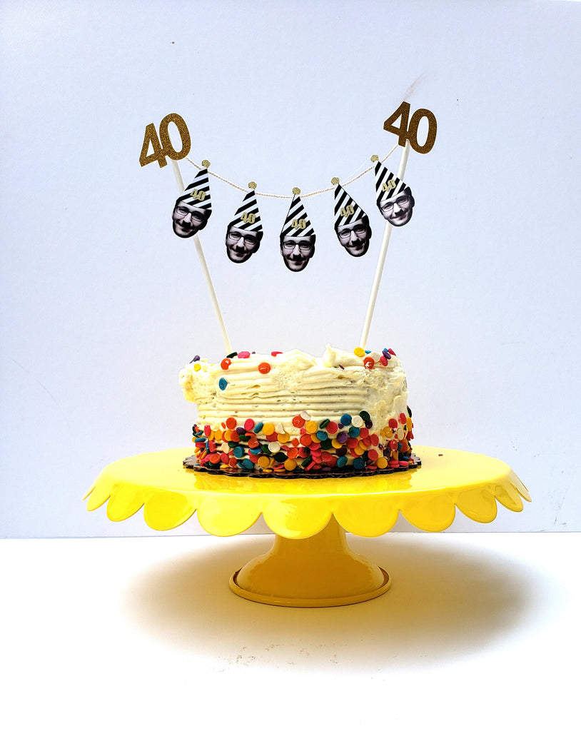 Birthday Cake Banner Cake Topper