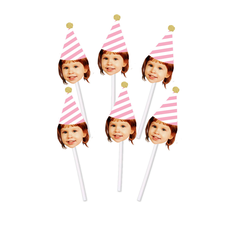 Face cupcake toppers for Birthday