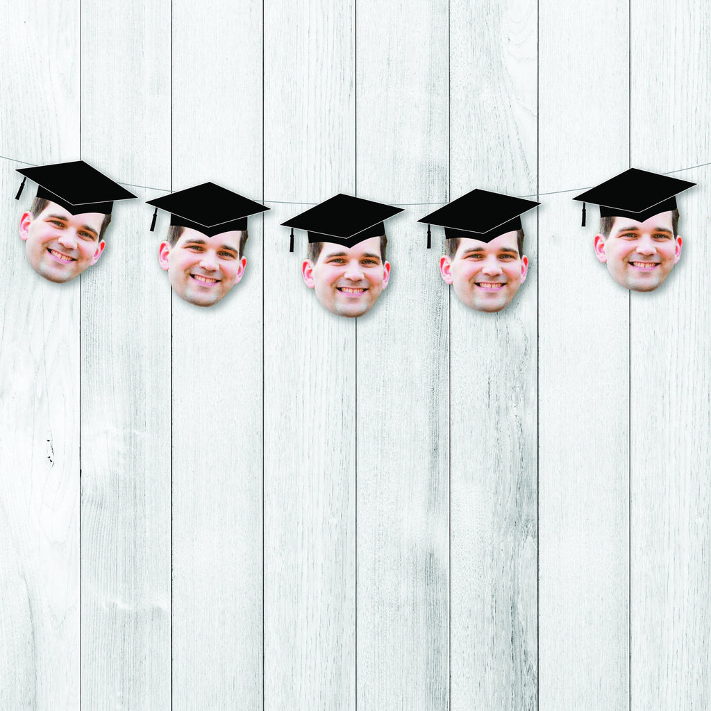 Graduation Banner with Face, Personalized, Funny, Hat, Congrats Grad, Class of 2019, College, High School, Grad School, Med School, Tassel