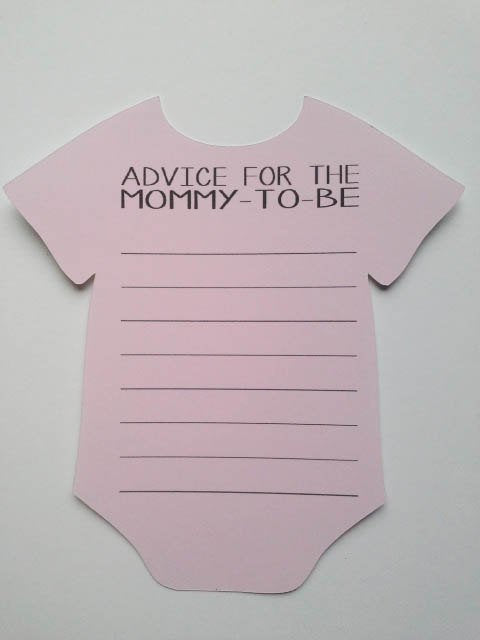 Pink Bodysuit Wishes Cards for Mom to Be