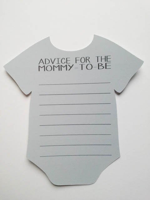 Mom to be advice cards