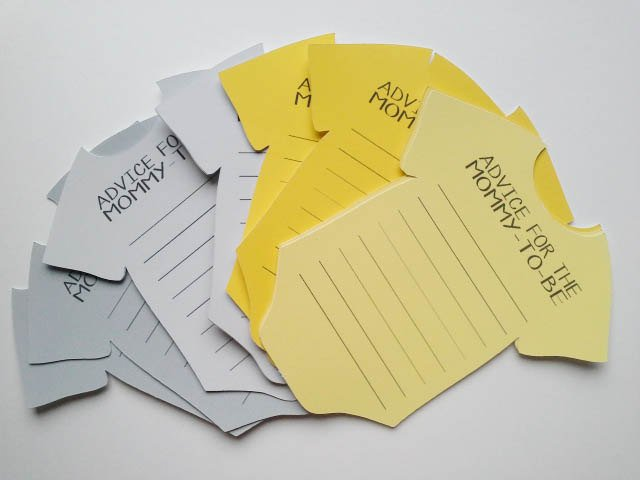 Yellow Bodysuit advice cards