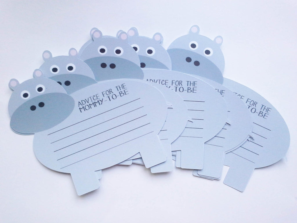 Hippo mom to be advice cards