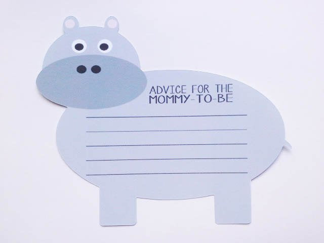 baby shower mom to be advice cards