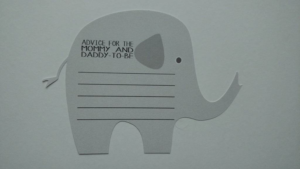 Gray animal advice cards for mom to be