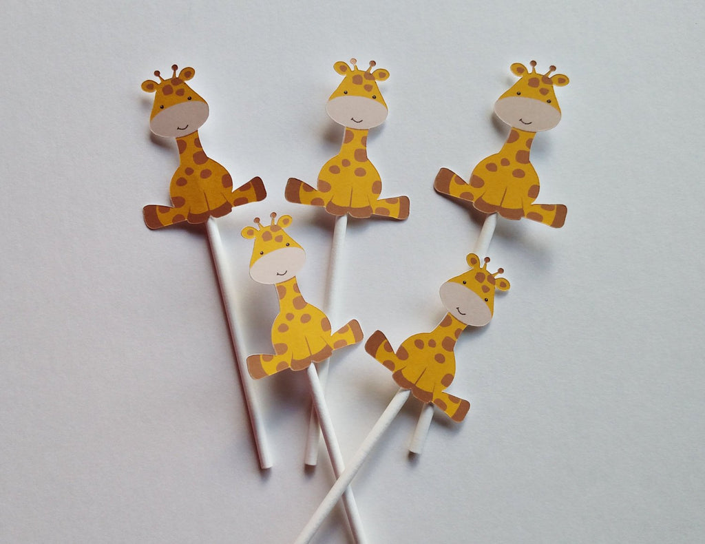 Giraffe Cupcake Toppers for Birthday party or Baby Shower