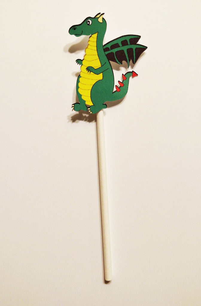 green dragon cupcake toppers