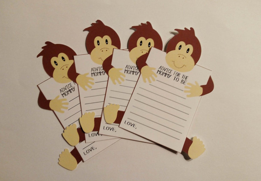 Monkey mom to be advice cards