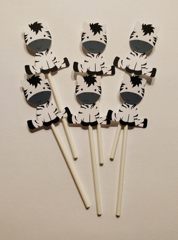 Baby Zebra Cupcake Toppers