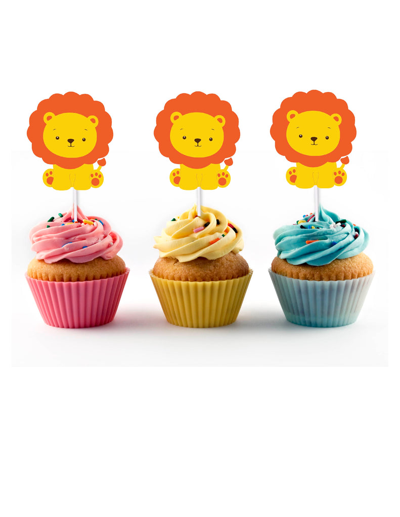Lion cupcake topper for birthday party