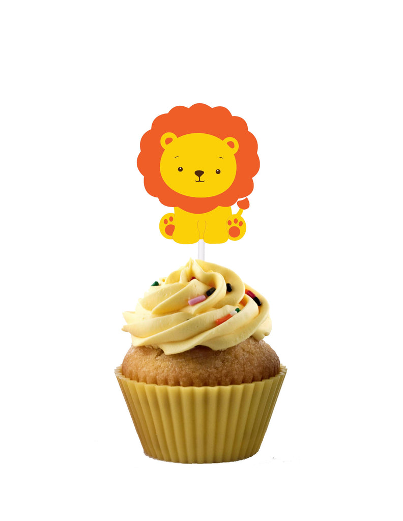 Lion themed cupcake toppers