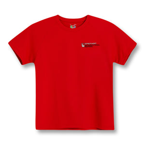 Child's Sport/House Colour T-shirt Red/Blue/White/Green