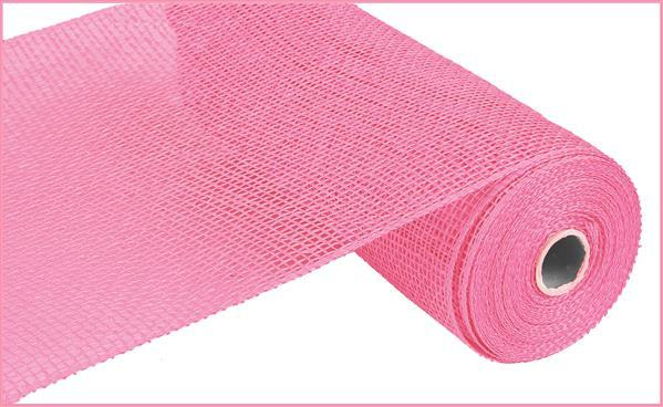 "Poly Burlap Mesh - Pink - 10"" X 10 yards - Mels Crafty Mojo LLC"