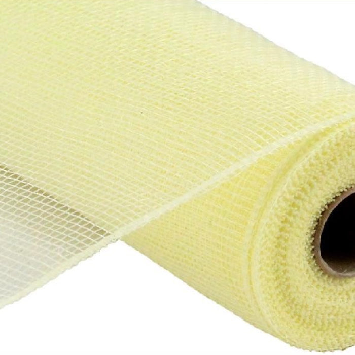 "Value Mesh - Light Yellow/Cream - 10"" X 10 YD-Mels Crafty Mojo LLC"