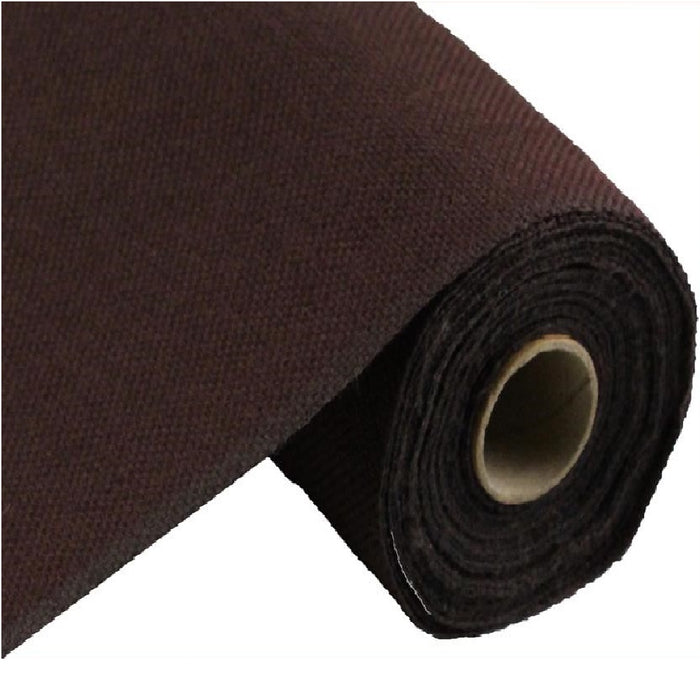 "Faux Burlap Fabric - Chocolate - 19"" X 10 yards"