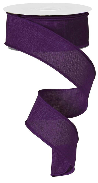 "Royal Burlap Ribbon - Purple - 1.5"" X 10YD-Mels Crafty Mojo LLC"