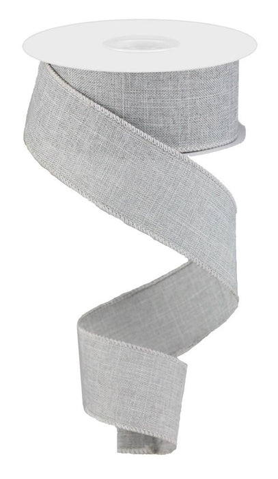 "Royal Burlap Ribbon - Light Grey - 1.5"" X 10YD-Mels Crafty Mojo LLC"
