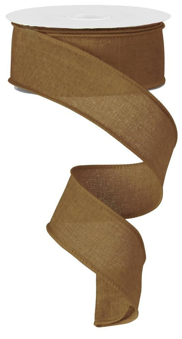 "Royal Burlap Ribbon - Tan - 1.5"" X 10YD-Mels Crafty Mojo LLC"