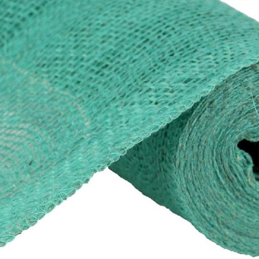 "Colorfast Loose Weave Burlap - Turquoise - 6"" x 10 yards-Mels Crafty Mojo LLC"