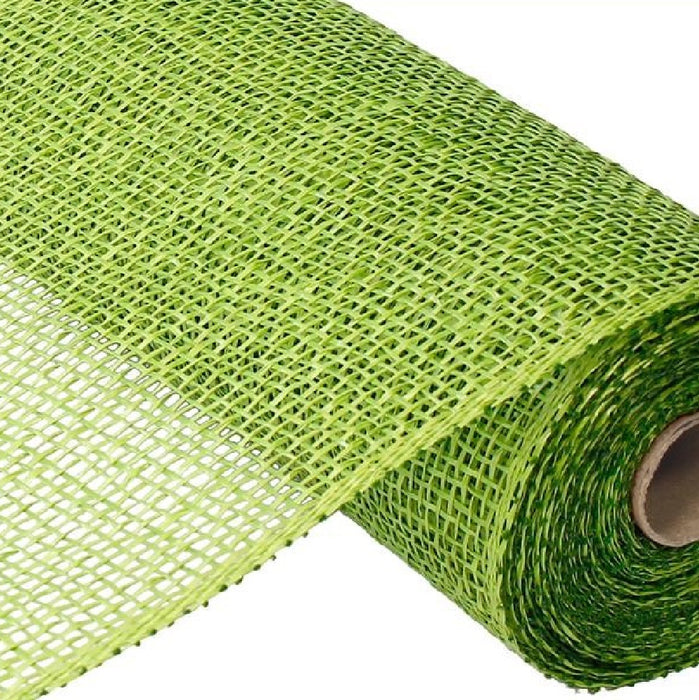 "Poly Burlap Mesh - Lime Green - 10"" X 10 YD - Mels Crafty Mojo LLC"