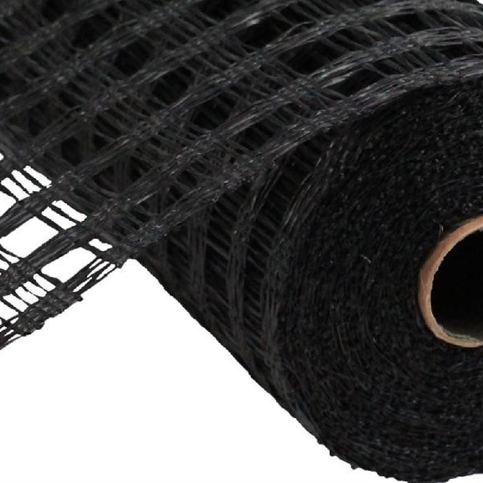 "Poly Burlap Mesh - Check Mesh - Black - 10"" X 10 yards-Mels Crafty Mojo LLC"