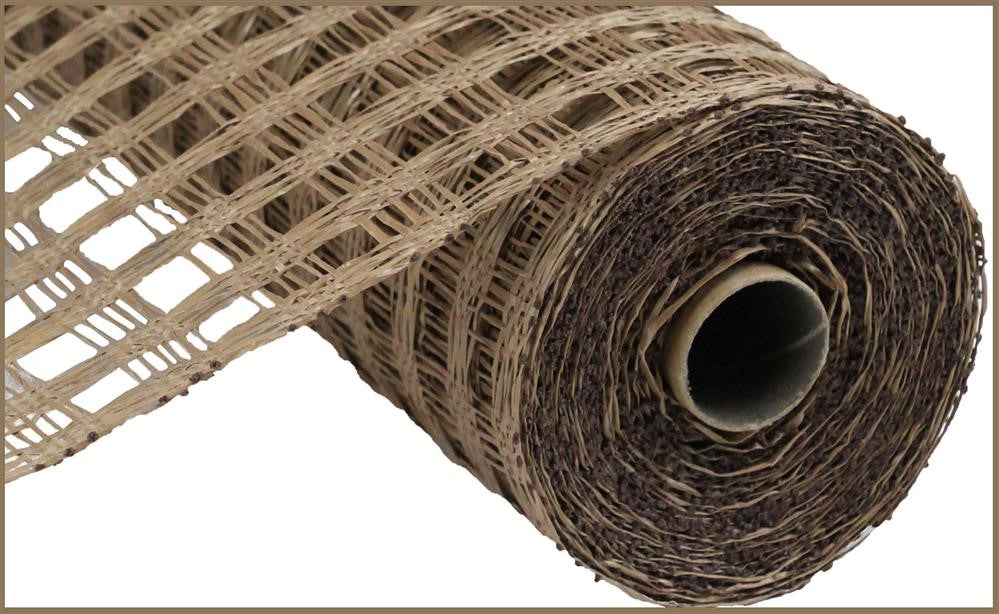 "Poly Burlap Mesh - Check Mesh - Brown - 10"" X 10 yards-Mels Crafty Mojo LLC"