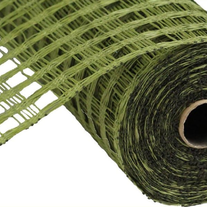 "Poly Burlap Mesh - Check Mesh - Olive Green - 10"" X 10 yards-Mels Crafty Mojo LLC"