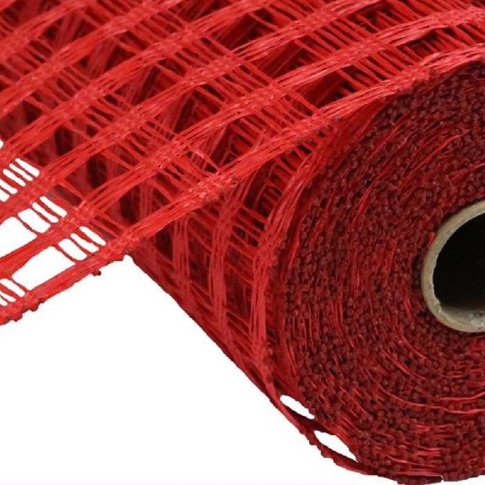 "Poly Burlap Mesh - Check Mesh - Red - 10"" X 10 yards-Mels Crafty Mojo LLC"