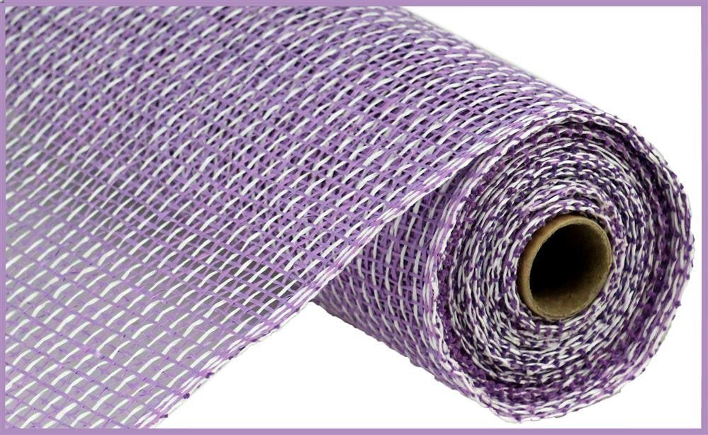 "Poly Burlap Mesh - Multi - Lavender/White - 10"" X 10 yards"