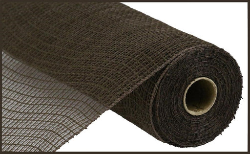 "Check Fabric Mesh - Chocolate - 10.5"" X 10YD-Mels Crafty Mojo LLC"