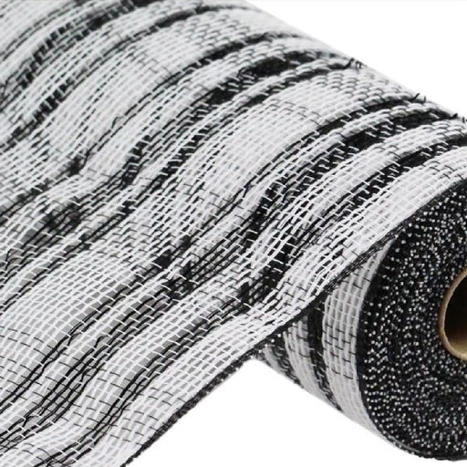"Cotton/Poly Check Mesh with Foil - Black/White - 10.5"" X 10YD-Mels Crafty Mojo LLC"
