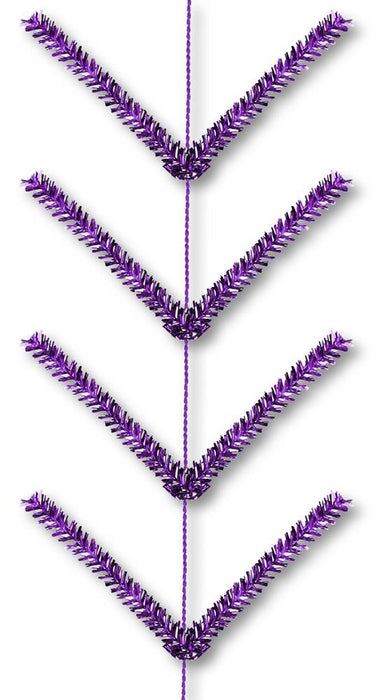 Pencil Work Garland - Metallic Purple - 9 ft. with 22 ties-Mels Crafty Mojo LLC