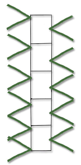"Wire Work Pencil Rail - Green - 22"" x 4""-Mels Crafty Mojo LLC"