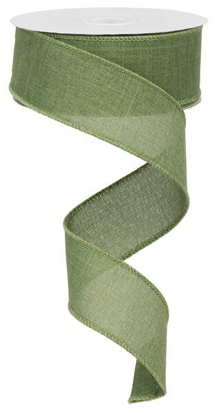 "Royal Burlap Ribbon - Clover Green - 1.5"" X 10YD - Mels Crafty Mojo LLC"
