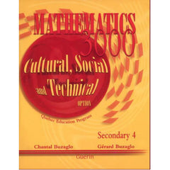 Mathematics 3000 Sec 4 Cultural, Social and Technical Workbook