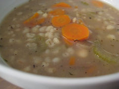 2b) Bean & Barley Soup, Mac & Cheese days $3.00 each