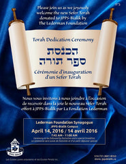 Torah Dedication Giving Options