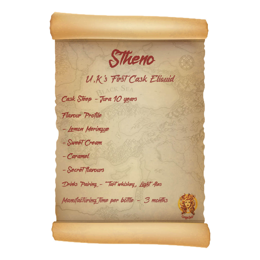 60ml Shortfill Bottle - Stheno - Jura Lemon and Caramel Bourbon