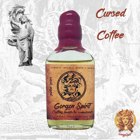 Gorgon Spirit - Cursed Coffee - 100ml Glass Waxed Bottle - Courvoisier V.S.O.P Based Cask eLiquid