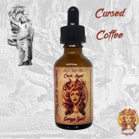 Gorgon Spirit - Cursed Coffee - 50ml Glass Bottle - Courvoisier V.S.O.P Based Cask eLiquid