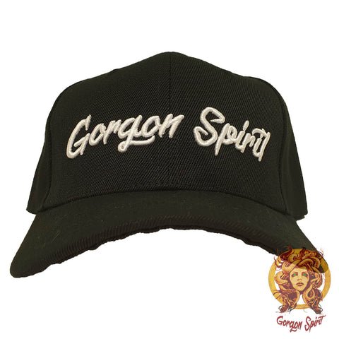 Gorgon Spirit - Baseball Cap - Plain Black - Embroidered Font