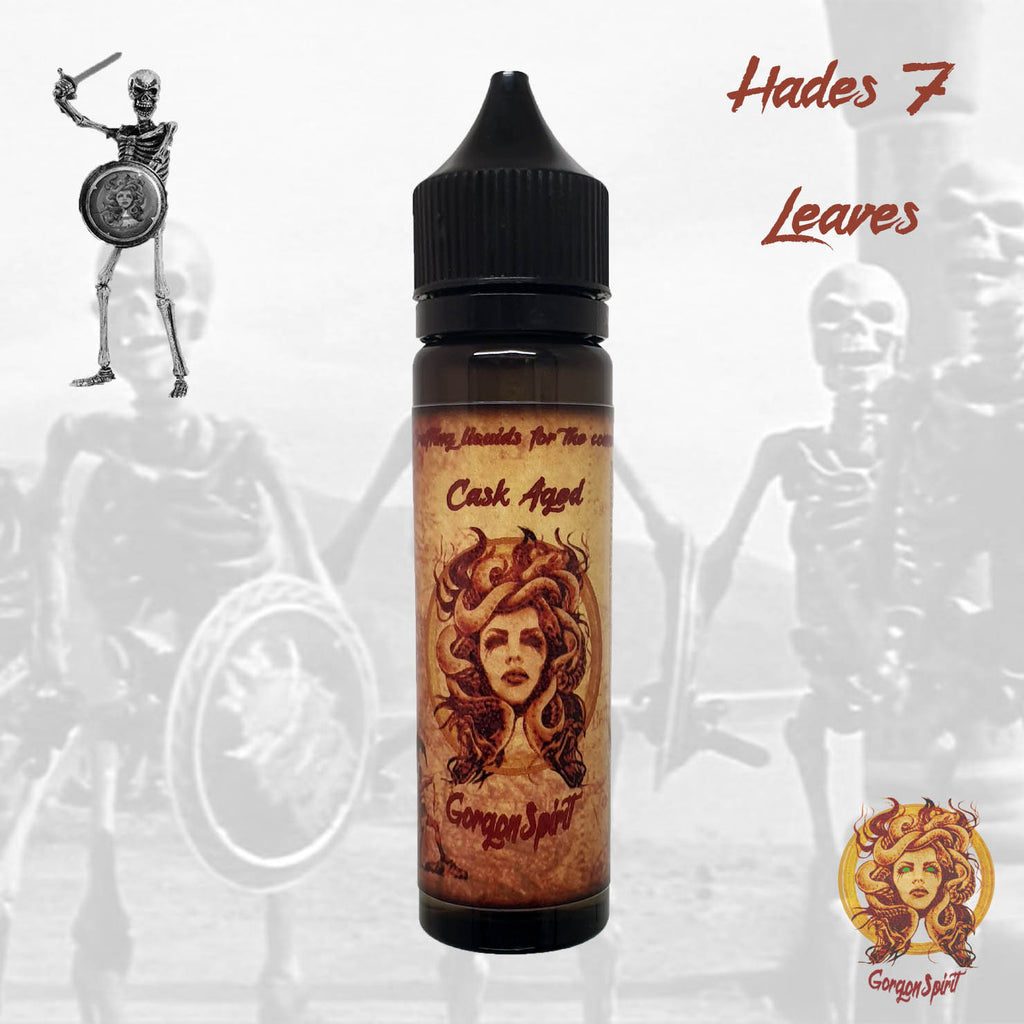 Gorgon Spirit - Hades 7 Leaves - 60ml Shortfill - Courvoisier V.S.O.P, 7 Leaves Tobacco Vanilla Custard, Cheesecake, Toffee Biscuit