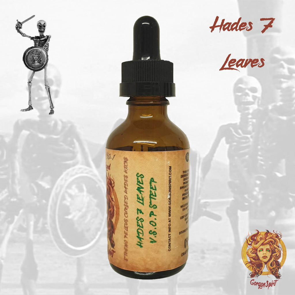 Gorgon Spirit - Hades 7 Leaves - 50ml Glass Bottle - Courvoisier V.S.O.P, 7 Leaves Tobacco Vanilla Custard, Cheesecake, Toffee Biscuit
