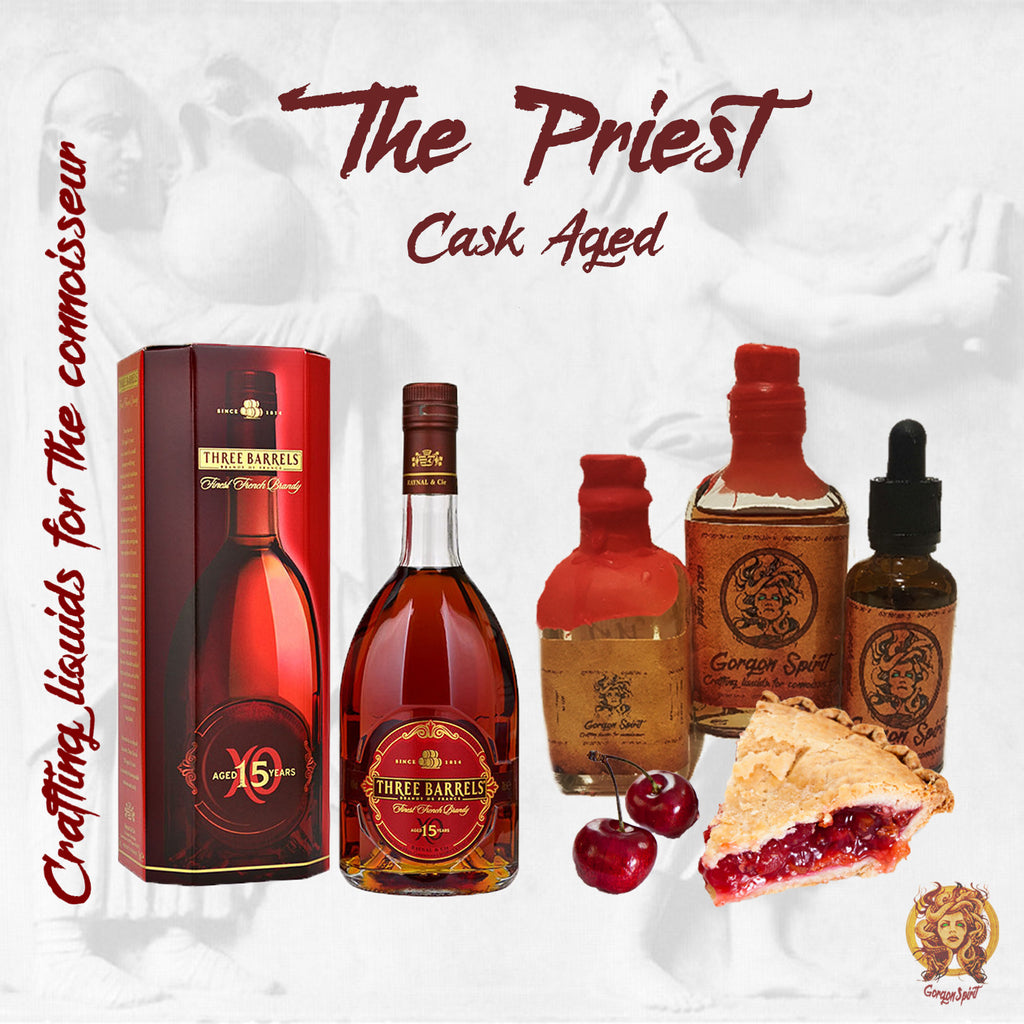 Gorgon Spirit - The Priest - Three Barrels V.S.O.P, Mascappo Cherry, Sweet Raspberry, Pie Crust, Almond Cream
