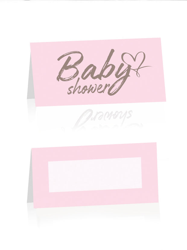 arrangere babyshower bordkort tips inspirasjon rosa jente