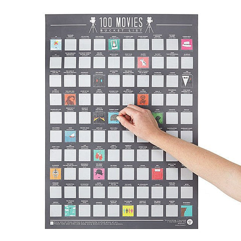 UpCart | 100 Movie Scratch Off Poster