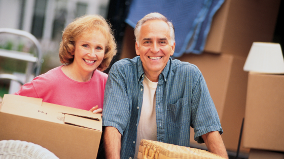 Older Couple Moving