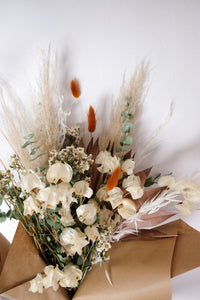 Dried Flower Bouquet With Pampas, Bunny Tails, Oat Grass, Eucalyptus, Bougainvillea and More