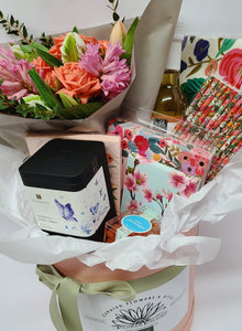 Afternoon Tea Gift Box and Fresh Flowers