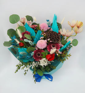 Mixed Fresh & Dried Floral Bouquet